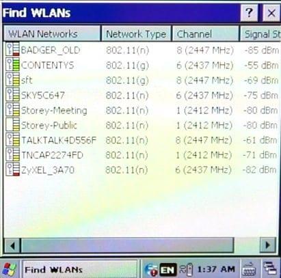5. Find WLANs